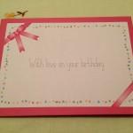 Avec amour, pour ton anniversaire